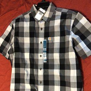 NWT men's Carhartt short sleeve button up